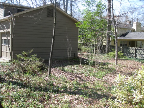 Original garage and site before starting construction