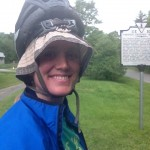 Biking the Virginia Creeper Trail- Didn't know my helmet was on backwards til I took this photo!
