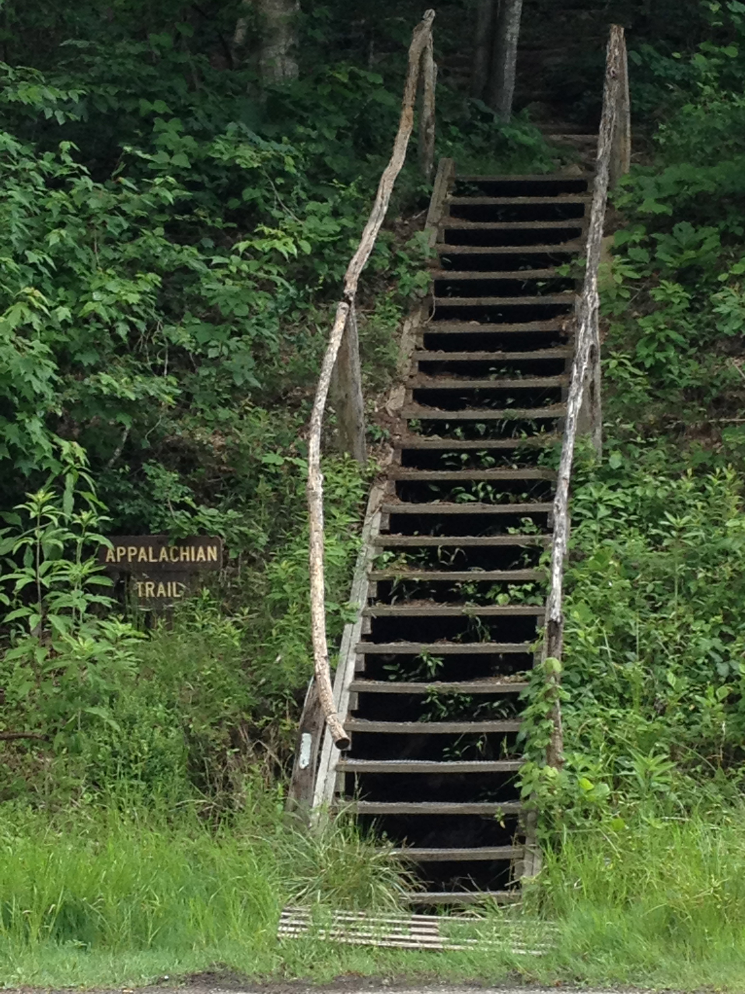 The steps leading the the Appalachain Trail in Damascus