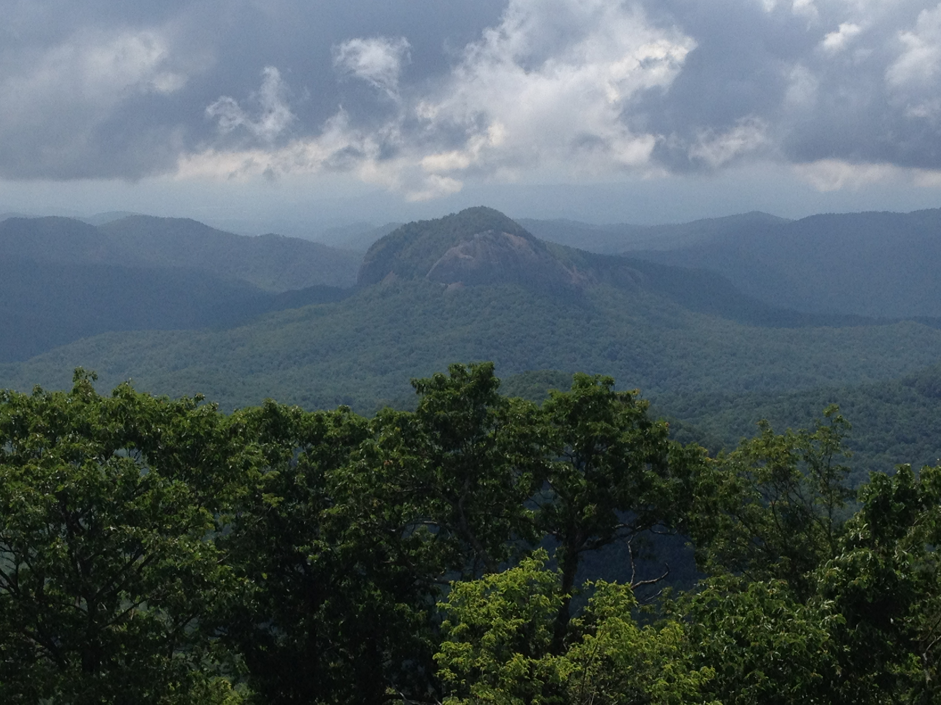 Looking Glass Rock along Blue Ridge Parkway