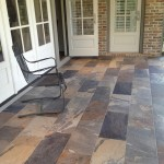 Porcelain tile screened in porch