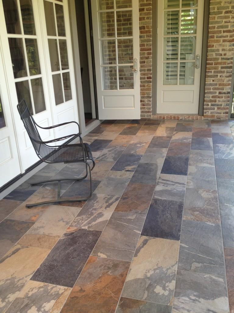 porcelain tile on porch | Aggressively Passive