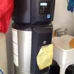 GE heat pump hot water heater in a Boulder Passive House.